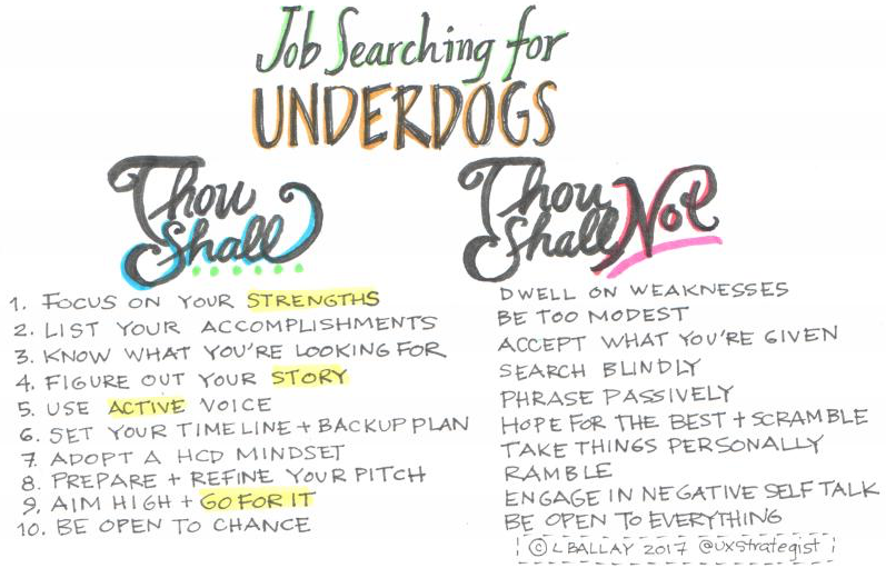 10 things I'd like to tell underdogs about job searching